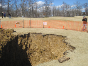 Sinkhole At Annbrier