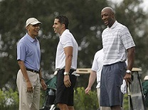 President Obama And Alonzo Mourning